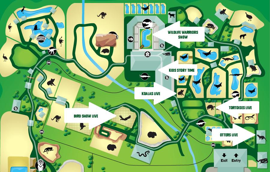 Old Australia Zoo Map.Australia Zoo Noosa Tourism Town Find Book Authentic