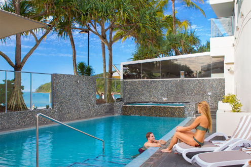 Heated Pool And Spa Area With Direct Access To Noosa S Main Beach Boardwalk